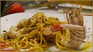 Tagliolini avec Langoustines et petits Artichauts