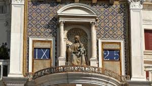 Le cadran de la Tour de l'Horloge et ses 2 Maures, dans le sestier de Saint-Marc à Venise.