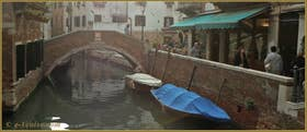 Le pont de Santa Maria Nova et la Fondamenta del Piovan, dans le Sestier du Cannaregio à Venise