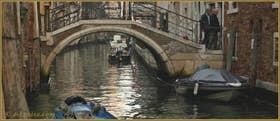 Le pont de l'Ospealeto, sur le rio de San Giovanni Laterano, dans le Sestier du Castello à Venise.
