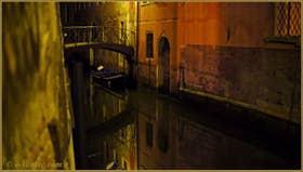 Le pont Noris sur le rio de Ca' Widmann o de San Canciano, dans le Sestier du Cannaregio à Venise
