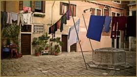 La Corte San Marco et son puits, dans le Sestier du Dorsoduro à Venise