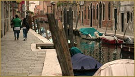 La Fondamenta Gherardini, le long du rio de San Barnaba, dans le Sestier du Dorsoduro à Venise