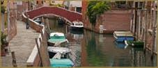 La Fondamenta, le rio et le Pont Sant' Andrea, dans le Sestier du Cannaregio à Venise.