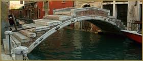 Le pont Chiodo, sur le rio de San Felice, dans le Sestier du Cannaregio à Venise