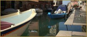 Beaux reflets sur le rio de la Sensa, le long de la Fondamenta dei Mori, dans le Sestier du Cannaregio à Venise