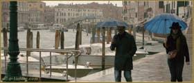 Fondamenta Santa Croce le long du Grand Canal, dans le Sestier de Santa Croce à Venise