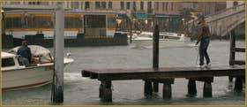 L'embarcadère des bateaux-taxis sur la Fondamenta San Simeon Picolo, le long du Grand Canal, dans le Sestier de Santa Croce à Venise