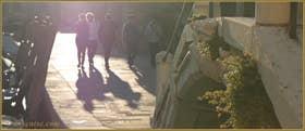 Détail du pont de le Terese, devant, la Fondamenta de le Terese, dans le Sestier du Dorsoduro à Venise