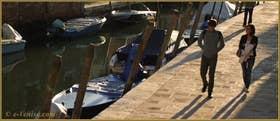 La Fondamenta et le rio de le Terese, dans le Sestier du Dorsoduro à Venise