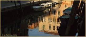 Reflets sur le rio de le Terese, dans le Sestier du Dorsoduro à Venise