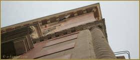 Détail de la façade du Palazzo Seriman, dans la Salizada du même nom, dans le Sestier du Cannaregio à Venise
