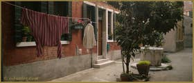 La Corte Nova et son puits, dans le Sestier du Cannaregio à Venise