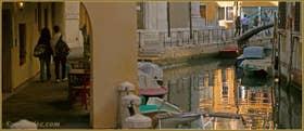 Le Sotoportego de le Colonete, le long du rio de la Madalena, dans le Sestier du Cannaregio à Venise