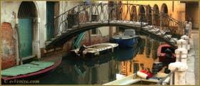 Le rio de la Madalena, avec au fond, le Sotoportego de le Colonete, dans le Sestier du Cannaregio à Venise.