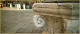 Détail du puits du Campo de la Madalena, dans le Sestier du Cannaregio à Venise