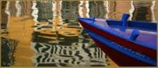 Reflets sur le rio de Santa Fosca, dans le Sestier du Cannaregio à Venise.