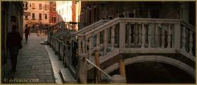 Le pont del Purgatorio, sur la Fondamenta de Fazza l'Arsenal, dans le Sestier du Castello à Venise.
