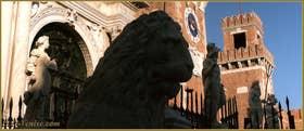 Les lions de l'Arsenal, dans le Sestier du Castello à Venise