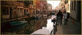 Le rio di Santa Anna, le long de la Fondamenta San Gioachin, dans le Sestier du Castello à Venise