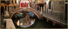 Le pont Rielo, sur le rio du même nom, dans le Sestier du Castello à Venise