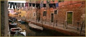 Le rio et la Fondamenta del Rielo, dans le Sestier du Castello à Venise