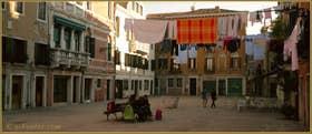 Le Campo Ruga et son puits du XIV-XVe siècle, dans le Sestier du Castello à Venise