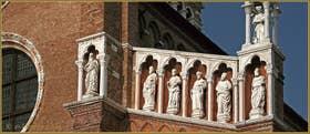 Détail de la façade de l'église de la Madona de l'Orto, dans le Sestier du Cannaregio à Venise