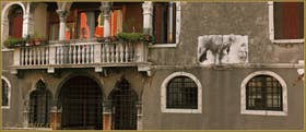Le Palazzo des frères Mastelli, sur le rio de la Madona de l'Orto, dans le Sestier du Cannaregio à Venise