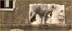 Haut-relief dit du chameau, datant du début du XIVe siècle sur la façade du Palazzo des frères Mastelli, représentant un chamelier et un dromadaire sur le rio de la Madona de l'Orto, dans le Sestier du Cannaregio à Venise