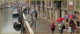 Le rio et la Fondamenta Zen, dans le Sestier du Cannaregio à Venise
