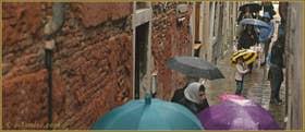 Petite frimousse bien mignone sous son parapluie jaune, Salizada del Spezier, dans le Sestier du Cannaregio à Venise