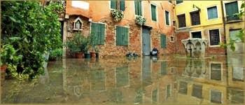 Acqua Alta Venise - La Corte Rota, dans le Sestier du Castello à Venise.