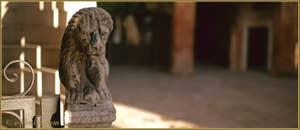 Lion sur la rampe du palazzo Lion, Campiello del Remer, dans le Sestier du Cannaregio à Venise.