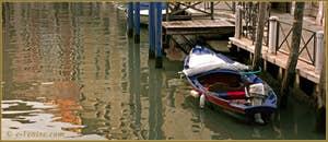 Reflets sur le rio dei Servi, dans le Sestier du Cannaregio à Venise.