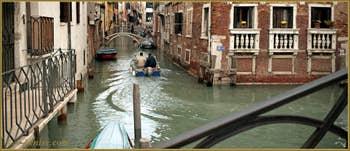Le rio de San Giovanni Laterano et le pont de l'Ospealeto, dans le Sestier du Castello à Venise.