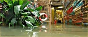 Acqua Alta Venise: La librairie Acqua Alta, la bien nommée, de Luigi Frizzo, Corte del Tintor, dans le Sestier du Castello à Venise.