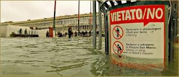Acqua Alta Venise: Petite note d'humour, il était plutôt difficile de s'asseoir, de boire et de manger place Saint-Marc pendant l'Acqua Alta !