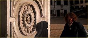 Détail de la façade de l'ex-église Santa Giustina, dans le Sestier du Castello à Venise.