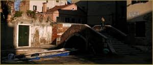 Le pont del Suffragio o del Cristo et la Fondamenta del Cristo, le long du rio de le Gorne, dans le Sestier du Castello à Venise.