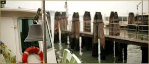 La cloche du vaporetto, sur les Fondamente Nove dans le Sestier du Cannaregio à Venise.