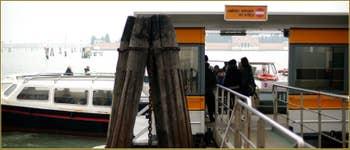 A l'arrêt du vaporetto sur les Fondamente Nove, dans le Sestier du Cannaregio à Venise.