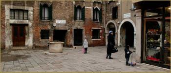 La Corte Seconda del Milion, à côté de laquelle Marco Polo aurait eu sa maison, dans le Sestier du Cannaregio à Venise.