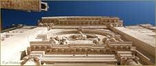 Détails de la façade de l'église Santa Maria Valverde sur le Campo de l'Abazia, dans le Sestier du Cannaregio à Venise