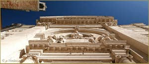 Détails de la façade de l'église Santa Maria Valverde sur le Campo de l'Abazia, dans le Sestier du Cannaregio à Venise.