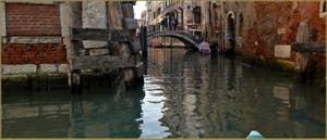 Le pont et le rio de la Tetta, dans le Sestier du Castello à Venise.