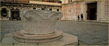 Le puits du Campo San Zaccaria, datant de la fin du XVe siècle et installé ici en 1932, dans le Sestier du Castello à Venise.