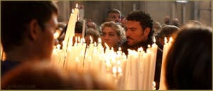 La fête de la Madonna de la Salute à Venise, à l'intérieur de l'église.