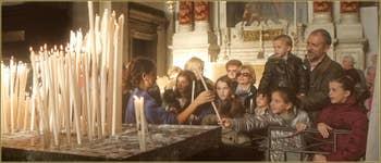 Dans l'église de la Madonna de la Salute, le 21 novembre 2012, dans le Sestier du Dorsoduro à Venise.
