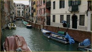 La Fondamenta et le rio de Sant Andrea, dans le Sestier du Cannaregio à Venise.